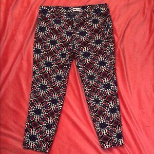 Old Navy printed Pixie cropped pants